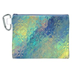 Colorful Patterned Glass Texture Background Canvas Cosmetic Bag (xxl) by Simbadda