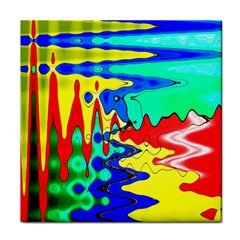 Bright Colours Abstract Tile Coasters by Simbadda