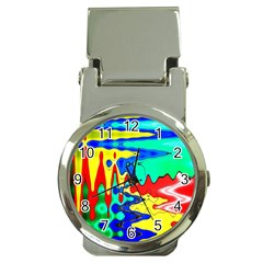 Bright Colours Abstract Money Clip Watches by Simbadda