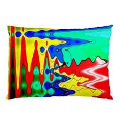 Bright Colours Abstract Pillow Case (two Sides) by Simbadda