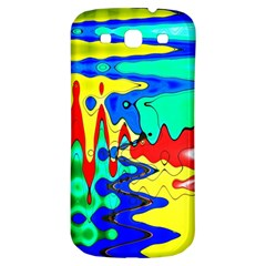 Bright Colours Abstract Samsung Galaxy S3 S Iii Classic Hardshell Back Case by Simbadda