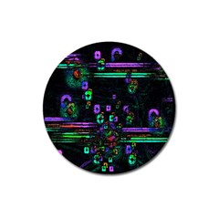 Digital Painting Colorful Colors Light Magnet 3  (Round)
