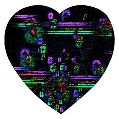 Digital Painting Colorful Colors Light Jigsaw Puzzle (heart) by Simbadda