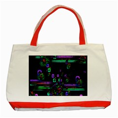 Digital Painting Colorful Colors Light Classic Tote Bag (Red) by Simbadda