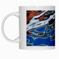 Colorful Reflections In Water White Mugs by Simbadda