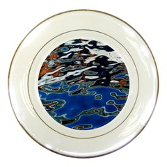 Colorful Reflections In Water Porcelain Plates by Simbadda