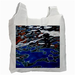 Colorful Reflections In Water Recycle Bag (one Side) by Simbadda