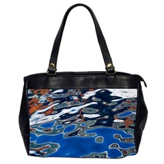 Colorful Reflections In Water Office Handbags (2 Sides)  by Simbadda