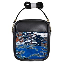 Colorful Reflections In Water Girls Sling Bags by Simbadda