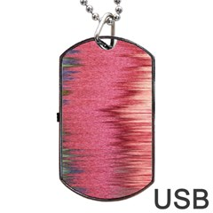 Rectangle Abstract Background In Pink Hues Dog Tag Usb Flash (two Sides) by Simbadda