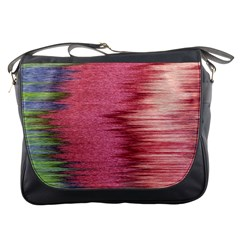 Rectangle Abstract Background In Pink Hues Messenger Bags by Simbadda
