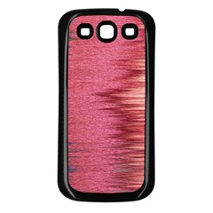 Rectangle Abstract Background In Pink Hues Samsung Galaxy S3 Back Case (black)