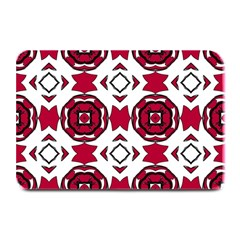 Seamless Abstract Pattern With Red Elements Background Plate Mats by Simbadda