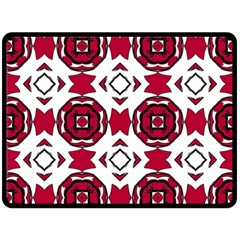 Seamless Abstract Pattern With Red Elements Background Fleece Blanket (large)  by Simbadda
