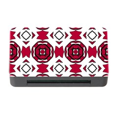 Seamless Abstract Pattern With Red Elements Background Memory Card Reader With Cf by Simbadda