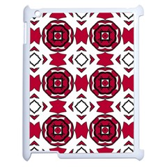 Seamless Abstract Pattern With Red Elements Background Apple Ipad 2 Case (white) by Simbadda