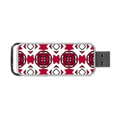 Seamless Abstract Pattern With Red Elements Background Portable Usb Flash (two Sides) by Simbadda