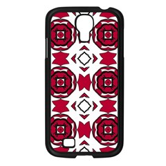 Seamless Abstract Pattern With Red Elements Background Samsung Galaxy S4 I9500/ I9505 Case (black) by Simbadda