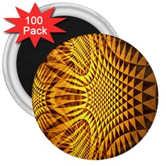 Patterned Wallpapers 3  Magnets (100 Pack) by Simbadda