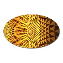 Patterned Wallpapers Oval Magnet by Simbadda