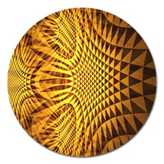 Patterned Wallpapers Magnet 5  (round) by Simbadda
