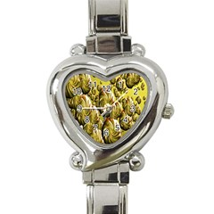Melting Gold Drops Brighten Version Abstract Pattern Revised Edition Heart Italian Charm Watch by Simbadda