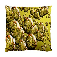 Melting Gold Drops Brighten Version Abstract Pattern Revised Edition Standard Cushion Case (one Side) by Simbadda