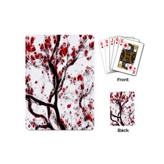 Tree Art Artistic Abstract Background Playing Cards (mini)  by Simbadda