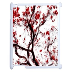Tree Art Artistic Abstract Background Apple Ipad 2 Case (white) by Simbadda