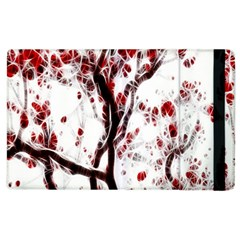 Tree Art Artistic Abstract Background Apple Ipad 2 Flip Case by Simbadda