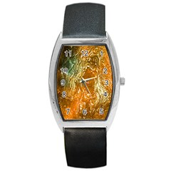 Light Effect Abstract Background Wallpaper Barrel Style Metal Watch by Simbadda