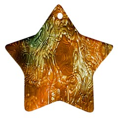 Light Effect Abstract Background Wallpaper Star Ornament (two Sides) by Simbadda