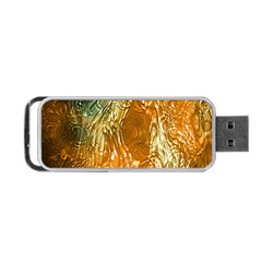 Light Effect Abstract Background Wallpaper Portable Usb Flash (two Sides) by Simbadda
