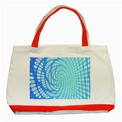 Abstract Pattern Neon Glow Background Classic Tote Bag (red) by Simbadda