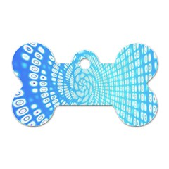 Abstract Pattern Neon Glow Background Dog Tag Bone (two Sides) by Simbadda