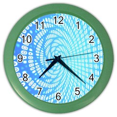 Abstract Pattern Neon Glow Background Color Wall Clocks by Simbadda