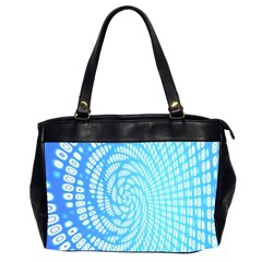 Abstract Pattern Neon Glow Background Office Handbags (2 Sides)  by Simbadda