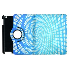 Abstract Pattern Neon Glow Background Apple Ipad 3/4 Flip 360 Case by Simbadda
