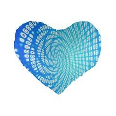 Abstract Pattern Neon Glow Background Standard 16  Premium Flano Heart Shape Cushions by Simbadda