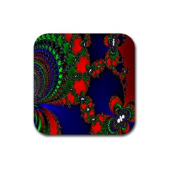 Recurring Circles In Shape Of Amphitheatre Rubber Coaster (square)  by Simbadda