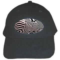 Abstract Fauna Pattern When Zebra And Giraffe Melt Together Black Cap by Simbadda