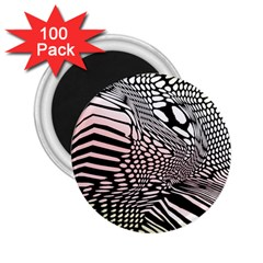 Abstract Fauna Pattern When Zebra And Giraffe Melt Together 2 25  Magnets (100 Pack)  by Simbadda