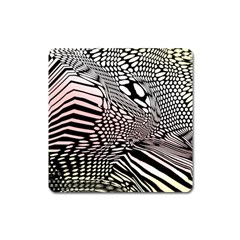 Abstract Fauna Pattern When Zebra And Giraffe Melt Together Square Magnet by Simbadda