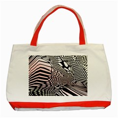 Abstract Fauna Pattern When Zebra And Giraffe Melt Together Classic Tote Bag (red) by Simbadda