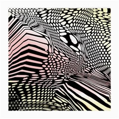 Abstract Fauna Pattern When Zebra And Giraffe Melt Together Medium Glasses Cloth (2 Side) by Simbadda