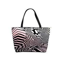 Abstract Fauna Pattern When Zebra And Giraffe Melt Together Shoulder Handbags by Simbadda