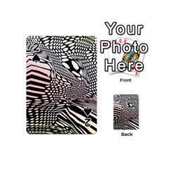 Abstract Fauna Pattern When Zebra And Giraffe Melt Together Playing Cards 54 (mini)  by Simbadda