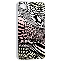 Abstract Fauna Pattern When Zebra And Giraffe Melt Together Apple Iphone 4/4s Seamless Case (white) by Simbadda