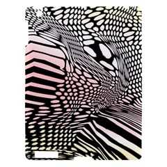 Abstract Fauna Pattern When Zebra And Giraffe Melt Together Apple Ipad 3/4 Hardshell Case by Simbadda