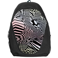 Abstract Fauna Pattern When Zebra And Giraffe Melt Together Backpack Bag by Simbadda